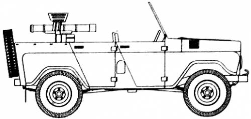 UAZ 469 + 106mm RG