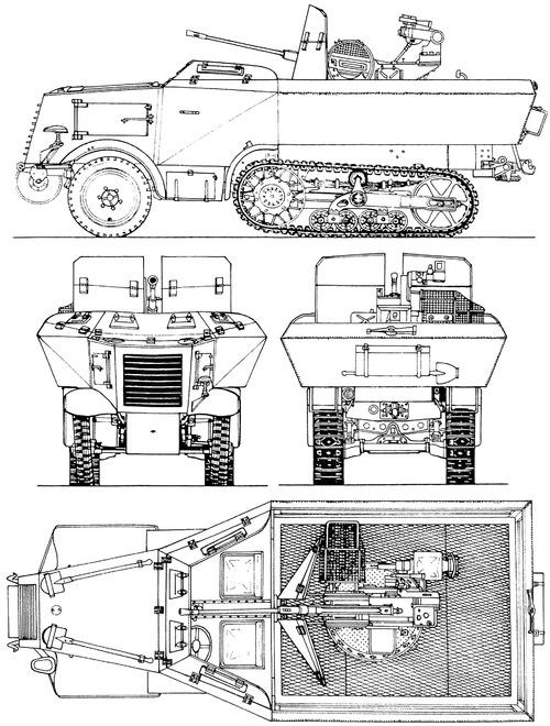 Unic P107 U304(F) 2cm Flak 38 Gepanzert