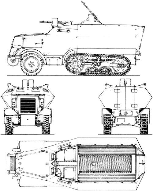 Unic P107 U304(F) Leichter Schutzenpanzer