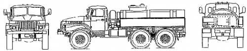Ural 375D Fuel Tanker