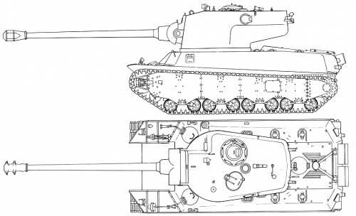 US M6A2E1 Heavy tank
