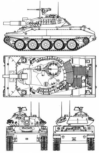 USA Main battle tank M551