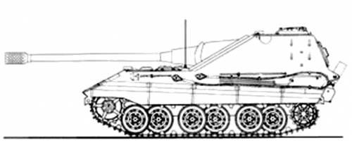 E-50 Panzerjager 128 mm KwK 44