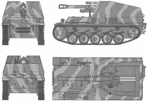 German Self-Propelled Howitzer Wespe
