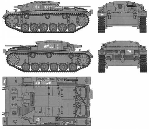German Sturmgesch Z III Ausf.B (Sd.Kfz.142)