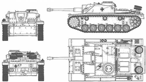 German Sturmgeschutz III Ausf. G Early Version