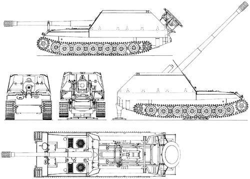 Grille 17cm K.44 (sf) Geschutzwagen Tiger II