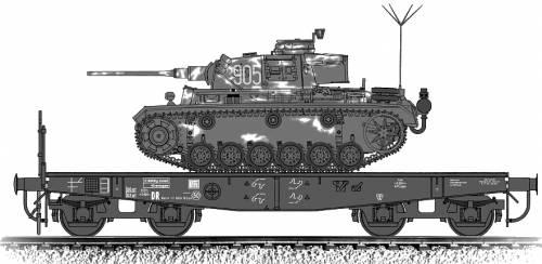 Pz.Bef.Wg.III Ausf.K on Schwerer Plattformwagen Typ SSy