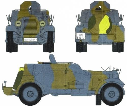 Adler Kfz.13 Armoured Car
