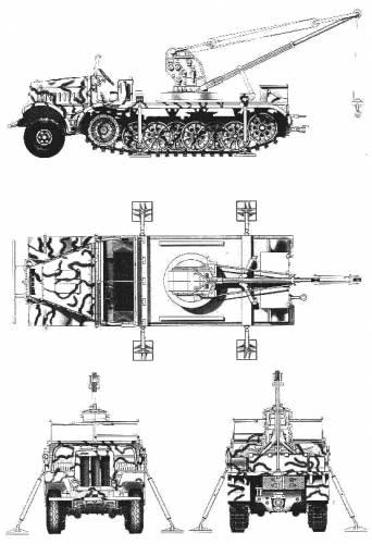 FAMO Sd.Kfz. 9-1 18T + 6T Bilstein Crane