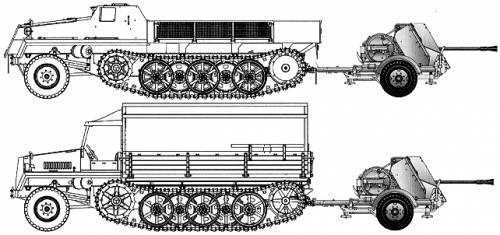 Sd.Ah. 58 + 3.7cm Flak43