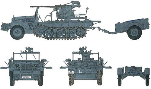 Sd.Kfz. 10-4 2cm FlaK