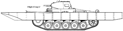 Sd. Kfz. 121 Pz.Kpfw.II Ausf.C Schwimmpanzer Kassbohrer