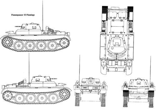 Sd. Kfz. 122 Pz.Kpfw.II Ausf.D Flammpanzer II Flamingo