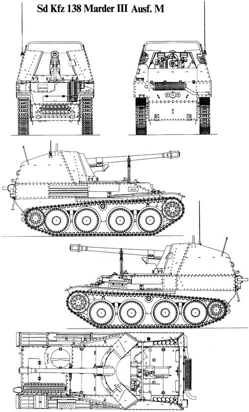 Sd. Kfz. 138 Marder III 7.5cm PaK 40-3 Panzerjaeger 38[t] Ausf.M