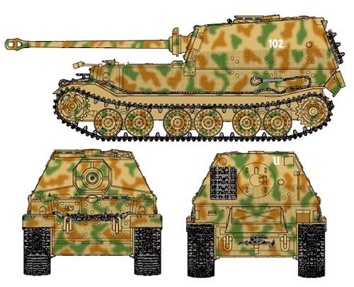 Sd. Kfz. 184 Elefant 8.8cm Panzarjager Tiger (P)