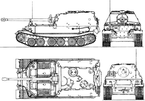 Sd. Kfz. 184 Elefant 8.8cm Panzerjager Tiger (P)