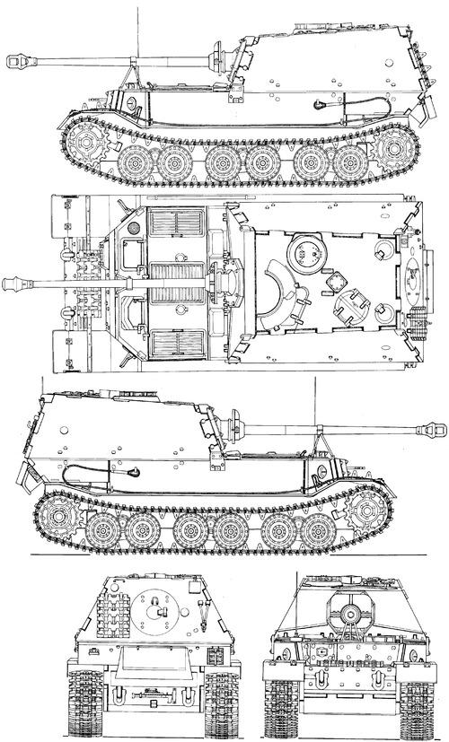 Sd. Kfz. 184 Elefant 8.8cm Panzerjager Tiger (P) Pak 43 L71
