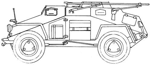 Sd. Kfz. 223 Ausf.A Leichter Panzerspahwagen (Fu)