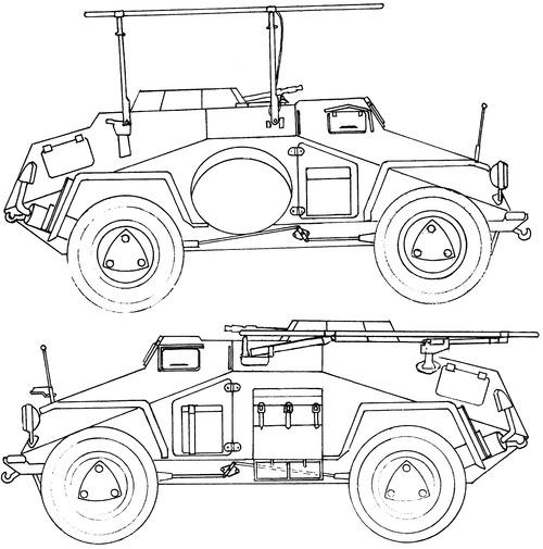 Sd. Kfz. 223 Ausf.B Leichter Panzerspahwagen (Fu)