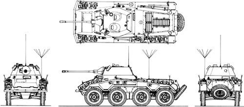 Sd. Kfz. 234-2 Puma 5cm L-60 Schwerer Panzerspahwagen 8-Rad