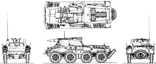 Sd. Kfz. 234-3 Puma 7.5cm Schwerer Panzerspahwagen 8-Rad