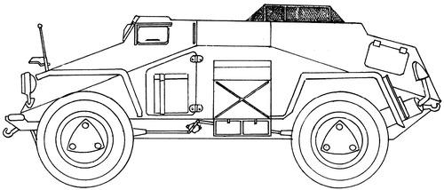 Sd. Kfz. 261 Ausf.B Kleiner Panzerfunkwagen