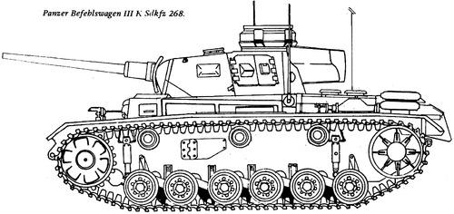 Sd. Kfz. 268 Panzerbefehlswagen III (Pz.Bef.Wg.III)