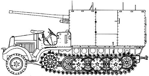 Sd. Kfz. 6-3 7.62cm FK36r auf PzrJgr Selbstfahrlafette Zugkraftwagen 5t Diana