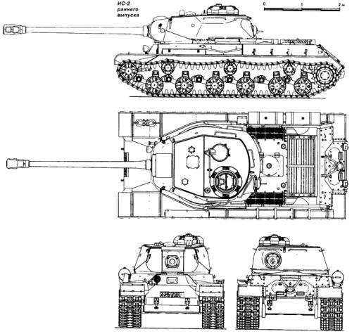IS-2, rannego vypuska