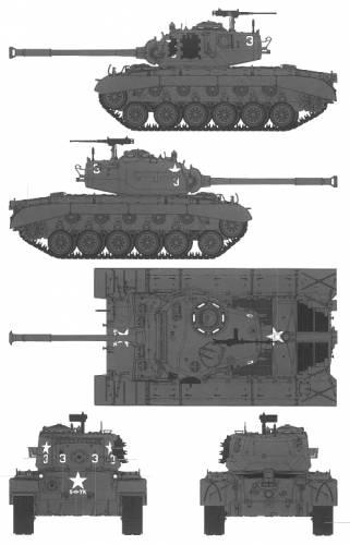 M26A1 Pershing