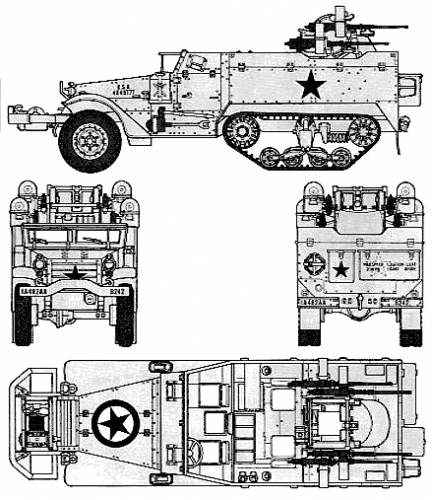 M3A2 Half Track M16 Motor Carriage