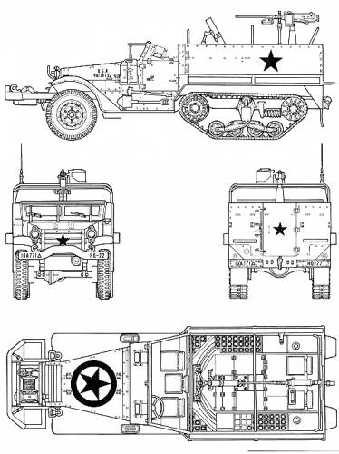M3A2 Half Track M21 Mortar Carrier