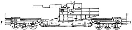 17cm Railroad Gun