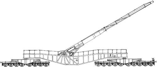 21cm K12(E) Railroad Gun