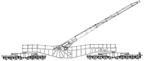 21cm K12 (E) Railway Artillery