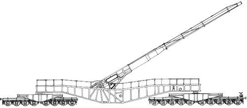 21cm K12(E) Railway Gun