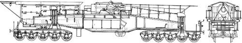 28cm L40 Kurze Bruno Railroad Gun