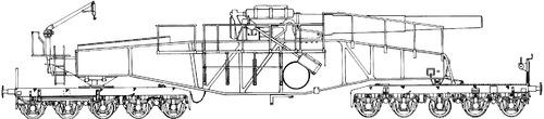28cm L92 Schwere Bruno Railroad Gun