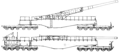 28cm L-58 Neue Bruno K5(E) Railway Gun