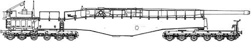 28cm L-58 Neue Bruno K5(E) Railway Gun (1942)