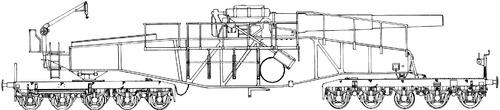 28cm L-92 Schwere Bruno K(E) Railway Gun