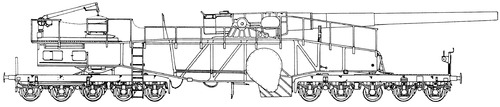 28cm Lange Bruno K(E) Railway Gun