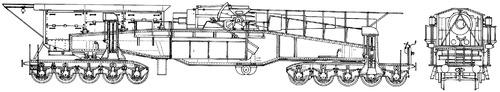 28cm Railway Artillery Kurze Bruno