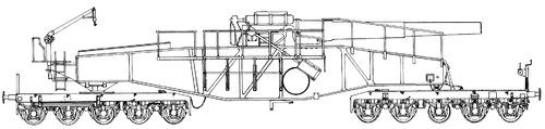 28cm Railway Artillery Schwere Bruno