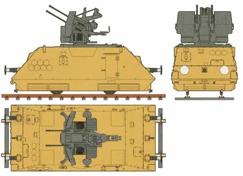 2cmFlak38 Armored Rail Car
