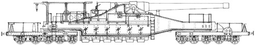 32cm Railway Artillery M74