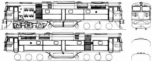 442 Class Locomotive Side