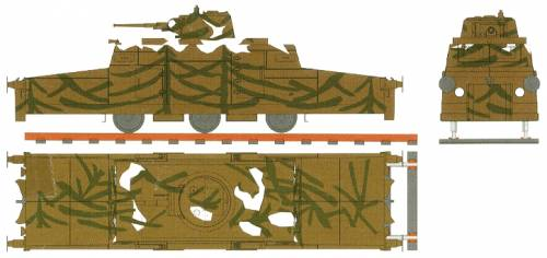 45mm Turret Mounted Armored Rail Car Zeppelin