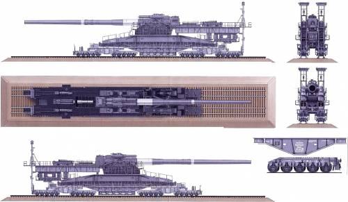 80cmK(E) Dora [Railway Siege Gun]